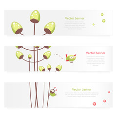 Set of vector spring banners