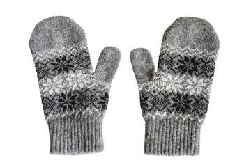 Gray mittens