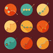 Business Infographic icons with Graph