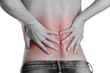 Schmerzpunkt im Rücken