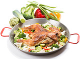 Grilled chicken  with vegetables
