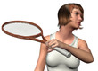 GIRL PLAY TENNIS - 3D