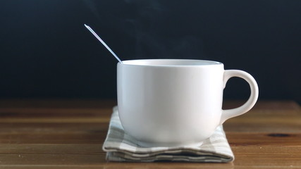 Coffee cup with smoke