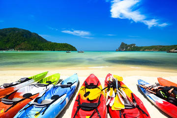 kayak in beautiful beach in Thailand