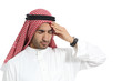 Arab saudi emirates man with headache