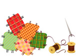 patchwork, sewing with a needle