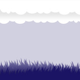 Vector design elements - grass and clouds, ground and sky