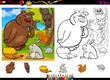 wild animals coloring page set