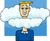 head in the clouds saying cartoon