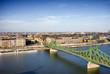 Liberty Bridge and Budapest Cityscape