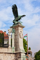 Mythical Turul Bird Statue in Budapest