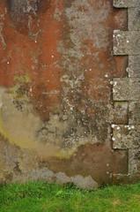 Hintergrund  Hauswand mit Ecksteinen
