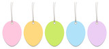 Hangtags Easter Eggs Color