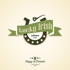 Typographic Saint Patricks Day Design