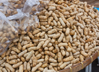 Boiled peanuts sold in the market.