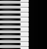 black and white keys