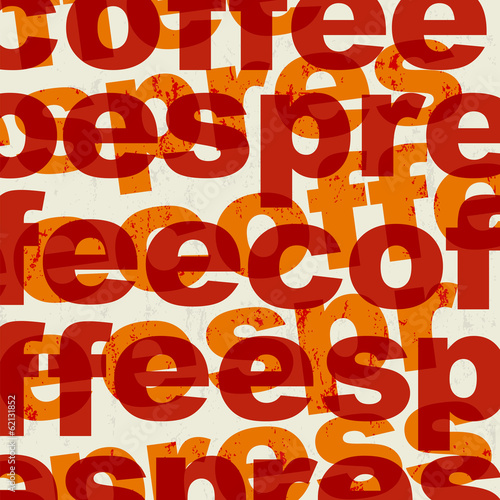 abstract coffee illustration the word