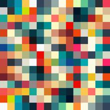 Abstrakcyjne geometryczne retro wzór dla projektu