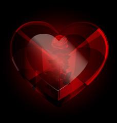 dark heart-crystal and rose