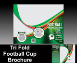 tri fold football brochure design