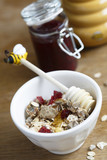 Granola with cranberry and honey