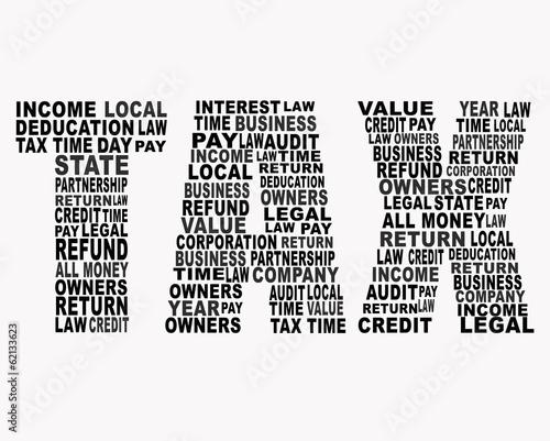 Tax word