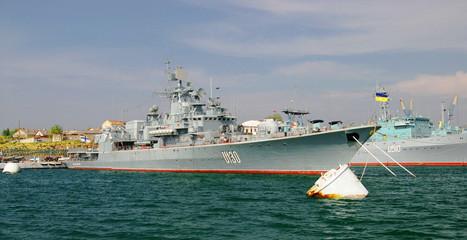Ukrainian frigate Hetman Sahaydachniy in Sevastopol