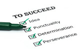 Way to success checklist