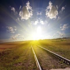 Railroad it to a sanset