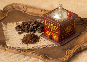 Antique Manual coffee grinder