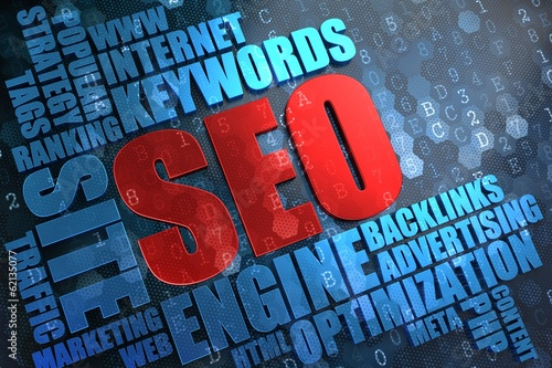 SEO -  Wordcloud Concept.