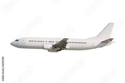 Deurstickers Vliegtuig White plane