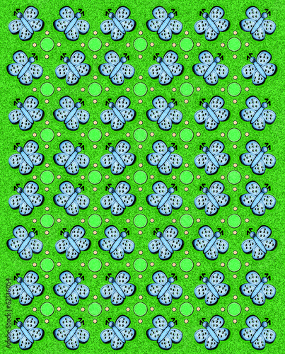 Butterfly Tablecloth Green