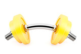 Cool Dumbbell, Hard Work Concept