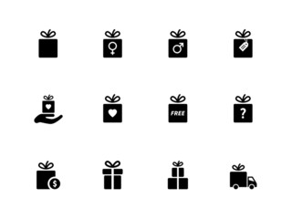 Present box icons on white background.
