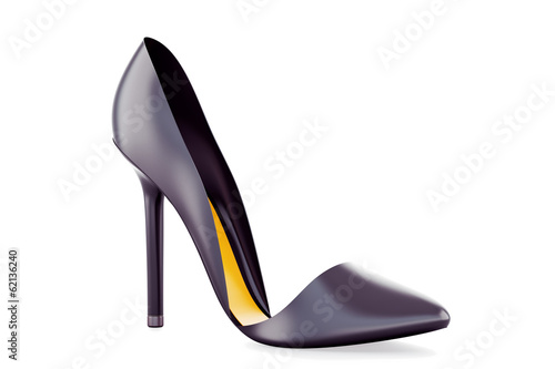 Black High heel shoe