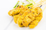 Pork satay thai cuisine food