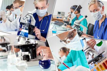 Medical Montage Doctors & Nurses Science Research