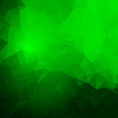 Abstract green frame with triangles