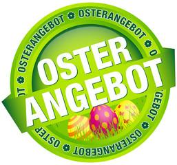 """Button Banner """"Osterangebot"""" Ostereier grün"""