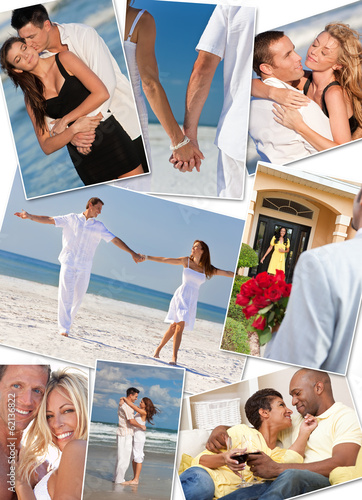 Romantic Couples Love Romance Beach Montage