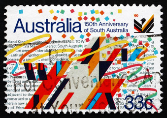 Postage stamp Australia 1986 Sculpture by O. H. Hajek