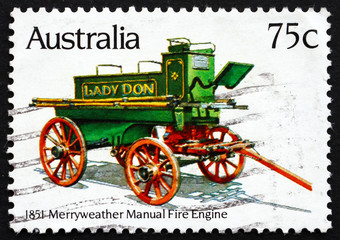 Postage stamp Australia 1983 Merryweather Manual