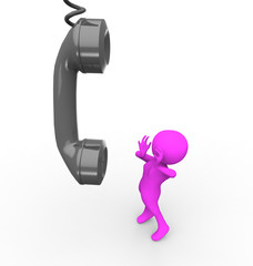 3d woman calling by phone