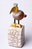 Toucan bird statuette on white