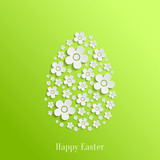 Easter Egg of White Flowers