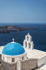 Firostefani church on Santorini
