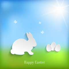 Cute Easter Rabbit Bunny