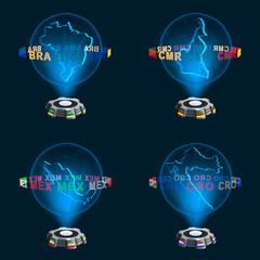Gruppe A Mannschaften WM Hologramme