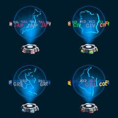 Gruppe C Mannschaften WM Hologramme